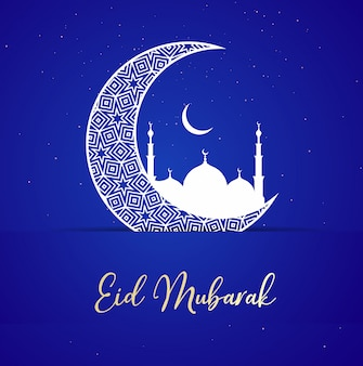 Eid mubarak-groetachtergrond