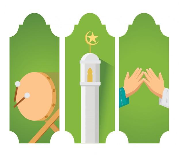 Eid mubarak-kaart
