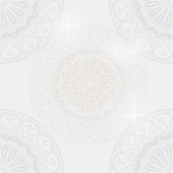 Eid mubarak lotusbloem achtergrondvector