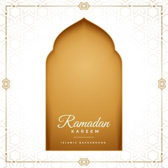 Eid mubarak ramadan kareem islamitische groet ontwerp