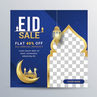 Eid verkoop sociale media banner post-sjabloon