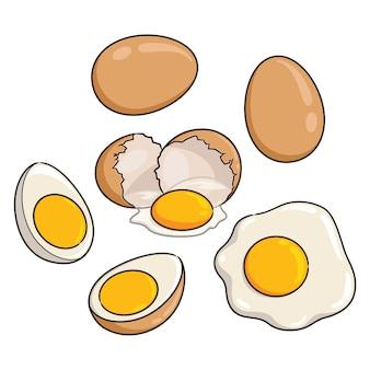 Eieren cartoon