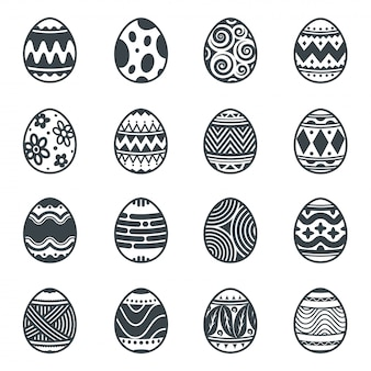 Eieren element ontwerp, pasen pictogrammen.