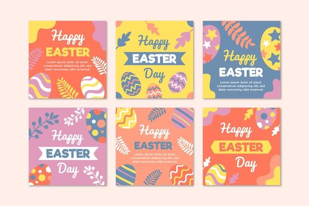 Eieren en bladeren instagram pasen collectie