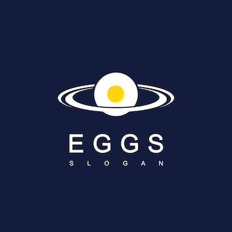 Eieren planeet logo ontwerp inspiratie