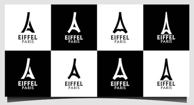 Eiffel parijs logo ontwerp vector