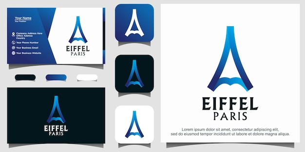 Eiffel parijs logo ontwerp