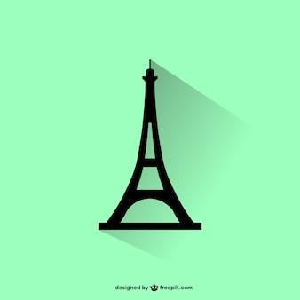 Eiffel toren silhouet