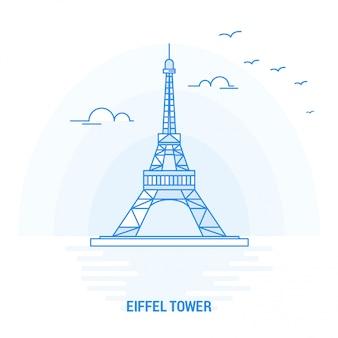 Eiffel tower blue landmark
