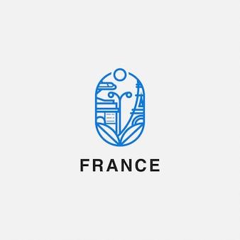 Eiffeltoren en boog het triompie-logo