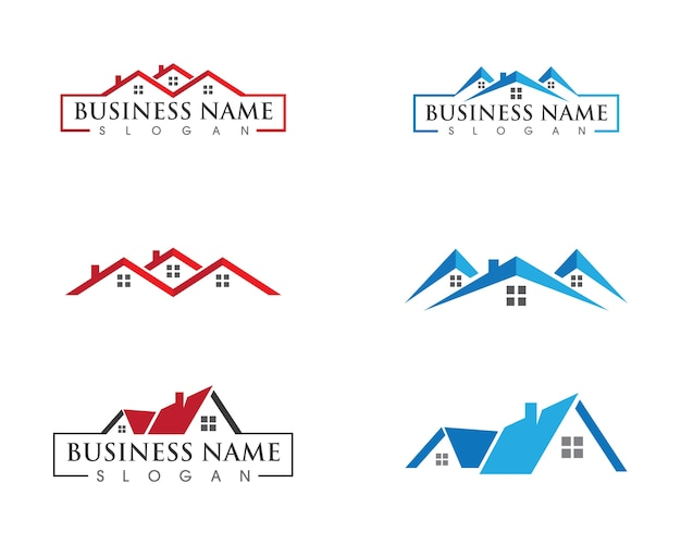 Eigendom en bouw logo ontwerp