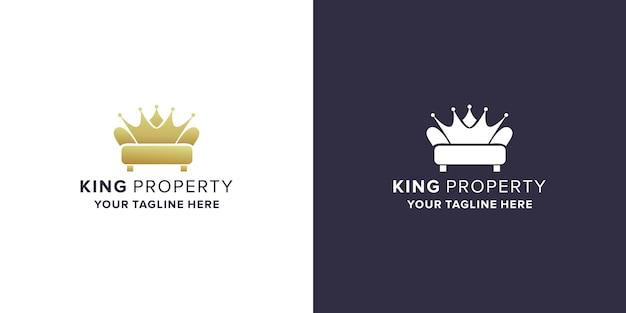 Eigendom met koningslogo-ontwerp