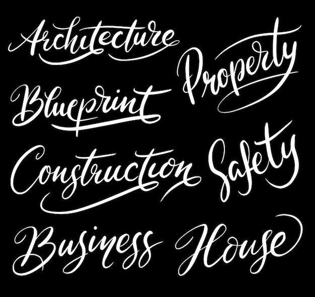 Eigenschap en architectuur handschrift kalligrafie