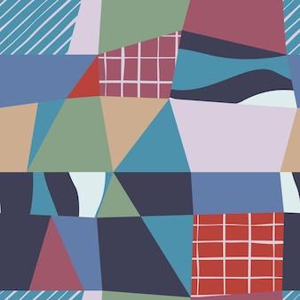 Eigentijds abstract naadloos patroon. creatieve krabbel. moderne vectorillustratie