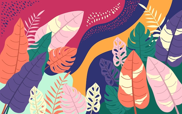 Eigentijds tropisch monsterabladerenontwerp