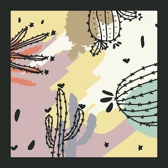 Eigentijdse achtergrond met cactus