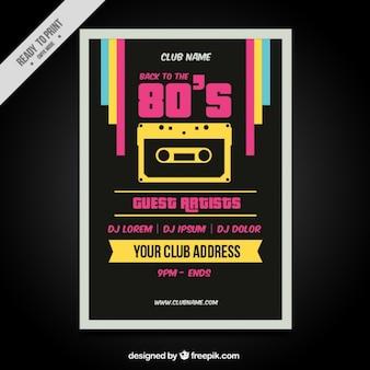 Eighties retro kleurrijke brochure