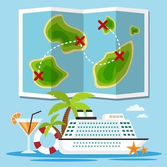 Eilanden cruiseschip