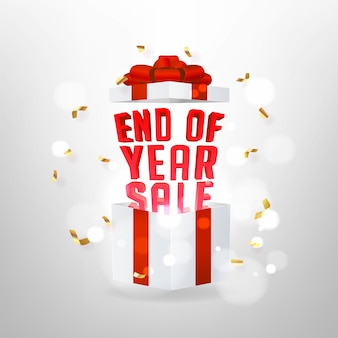 Eind van het jaar verkoop achtergrond