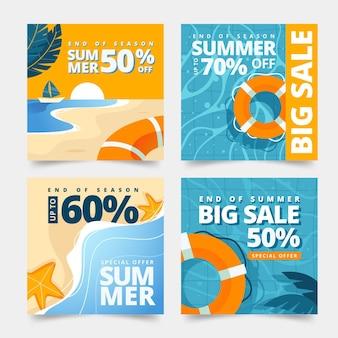Einde seizoen zomer verkoop instagram post collectie