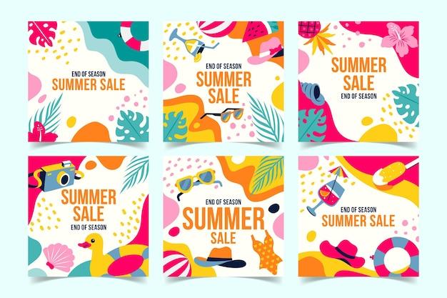 Einde seizoen zomer verkoop instagram posts