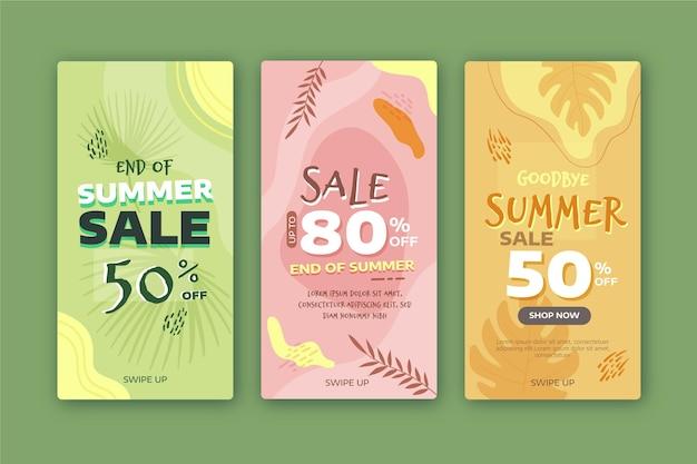 Einde seizoen zomer verkoop instagramverhalen