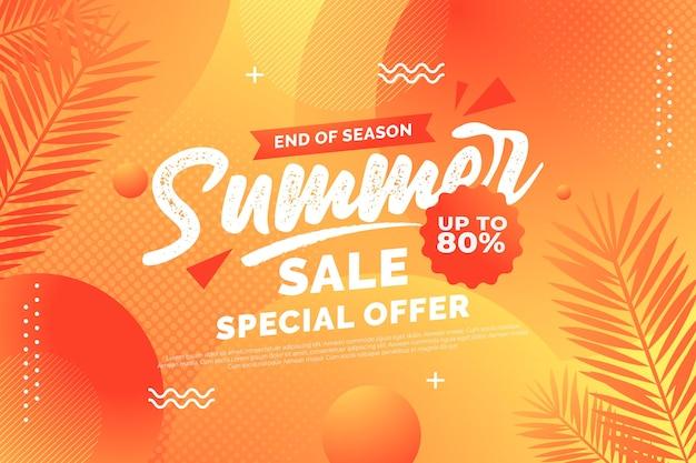 Einde seizoen zomer verkoop ontwerp