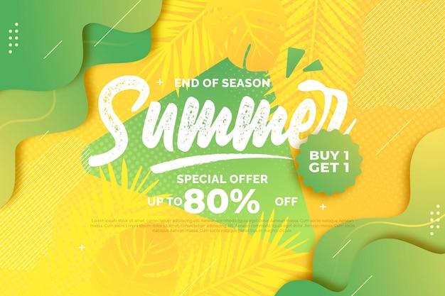Einde seizoen zomer verkoop thema