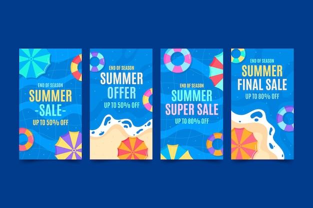 Einde seizoen zomerverkoop - ig verhalen
