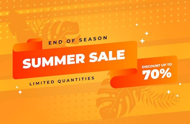 Einde van de zomer verkoop achtergrond met beperkte kwantumkorting
