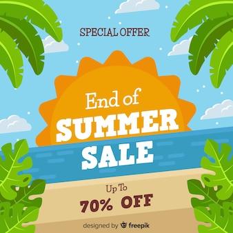 Einde van de zomer verkoop achtergrond