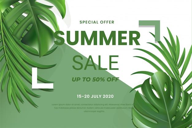 Einde van de zomer verkoop banner