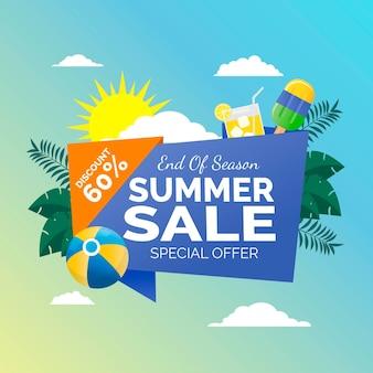 Einde van de zomer verkoop illustratie