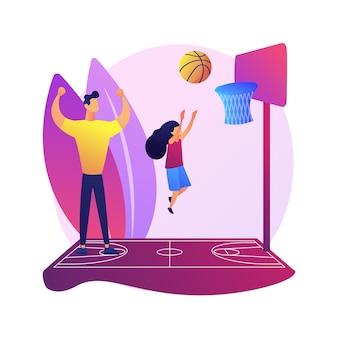 Einde van gendergerichte ouderschap abstracte concept illustratie. gendergevoelig neutraal ouderschap, rol van vader, stereotypen over gendergelijkheid, hetzelfde geslacht