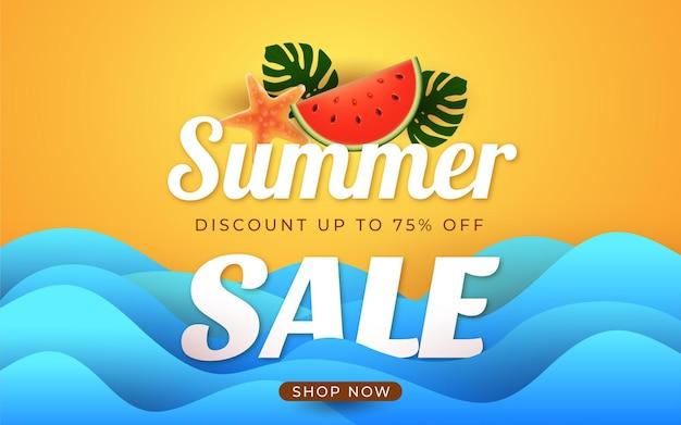 Einde van het seizoen zomer sale promotie