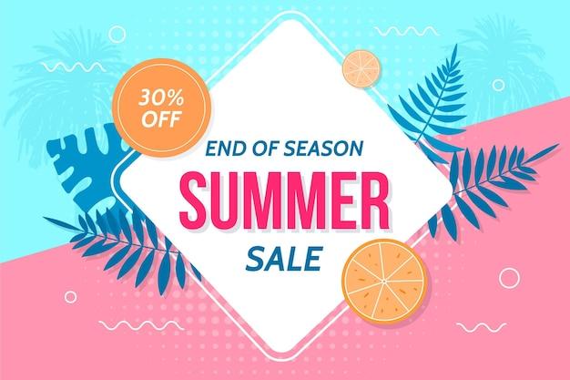 Einde van het seizoen zomer verkoop achtergrond