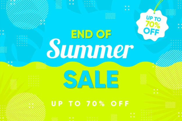 Einde van het seizoen zomer verkoop banner