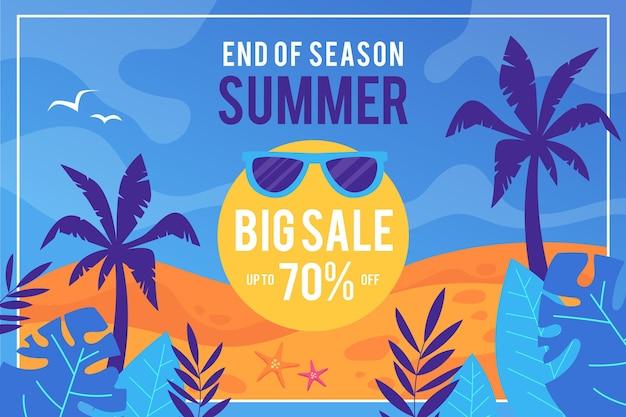 Einde van het seizoen zomer verkoop concept