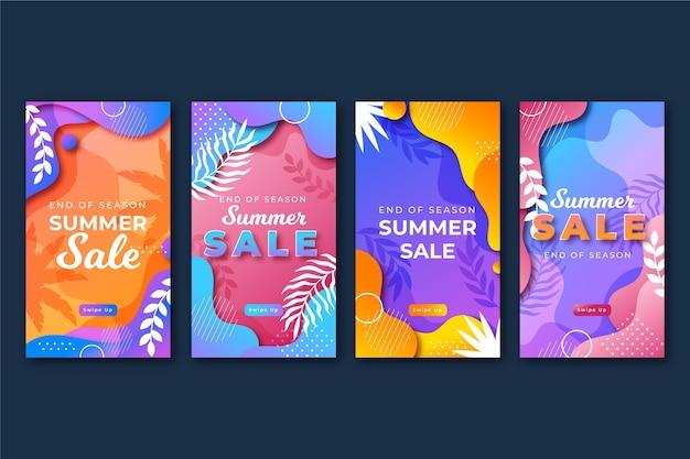Einde van het seizoen zomerverkoop instagramverhalen