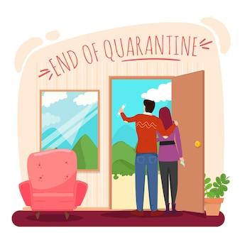 Einde van quarantaine-ontwerp