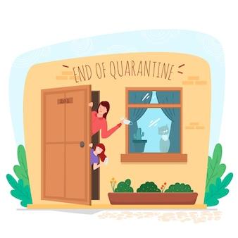 Einde van quarantaine