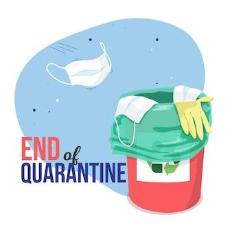 Einde van quarantaineconcept
