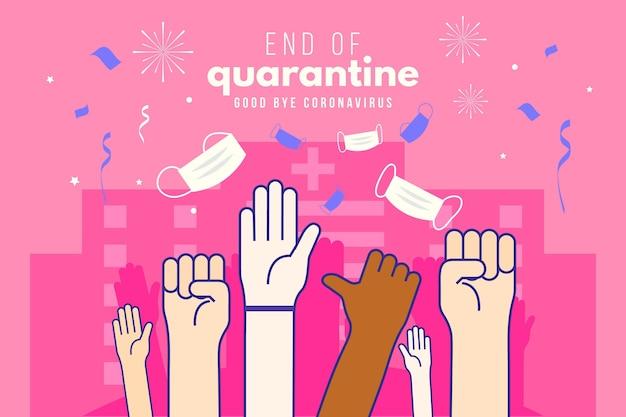 Einde van quarantaineontwerp
