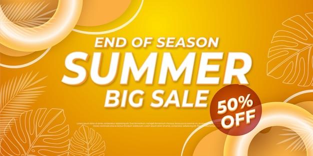 Einde van seizoen zomer verkoop achtergrond