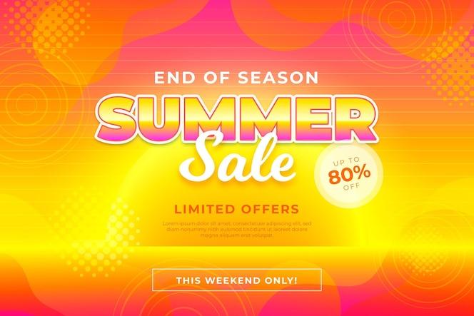 Einde van seizoen zomer verkoop banner