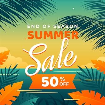 Einde van seizoen zomer verkoop concept