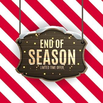 Einde van winter verkoop achtergrond, kortingsbon sjabloon.