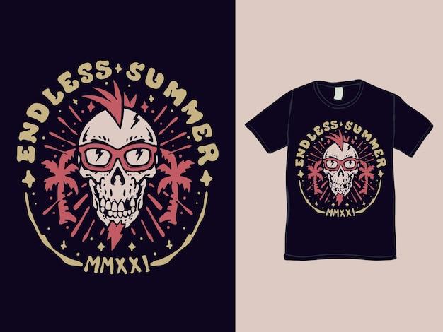 Eindeloos t-shirtontwerp voor de zomerfeest