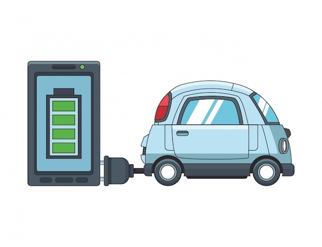Electric auto en smartphone