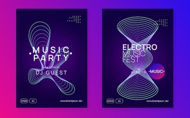 Electro geluid poster sjablonen